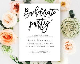 Bachelorette party invitation template Bachelorette party invite download Bachelorette printable DIY bachelorette party Bachelorette pdf