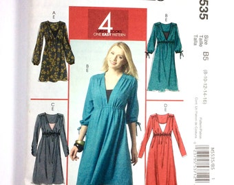 McCall's M5535, Women's Dress and Camisole Pattern, 4 Great Looks, Easy Pattern, Size 8, 10, 12, 14, 16, Uncut Pattern