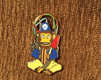 Monkey Bomb COD zombies hat pin