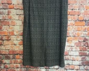 80's Ann Taylor Skirt,Grey,Knee- Length, Size 12