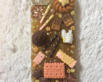 iPhone 5 / 5s deco-den phone case cute kawaii dessert bunny