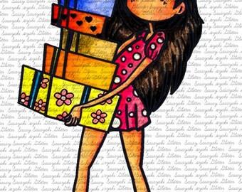 Shopping Meg Digital Stamp by Sasayaki Glitter
