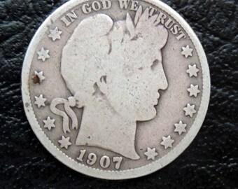 1907-P  Barber/Liberty Head Half - #103
