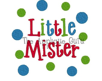 Little Mister!! Embroidered Shirt, Bodysuit, Burp Cloth, Dish Towel and more!