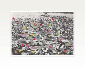 Geometric Art, People Art, Pop Surrealism, Spots, Circle Shapes, Beach Art - A Good Spot