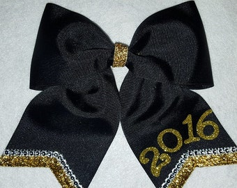 2018 / 2019 Hairbow - Black and Gold with Rhinestones