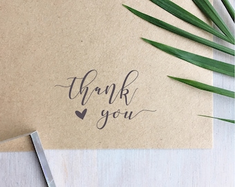Thank You Stamp | Business Stamp - Wedding Stamp - Thank You Cards - Wedding Favours - Custom Stamp