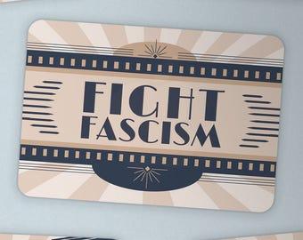 Fight Fascism —sticker resist resistance antifa equality freedom unity justice anti-oppression art deco 1930s