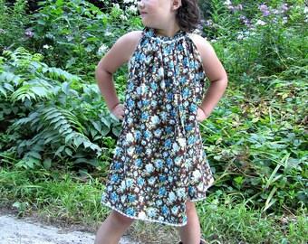 Girls pillowcase dress - girls dress - flower girl dress - beach dress - boho dress - bohemian dress - Spring dress - baby dress - Summer