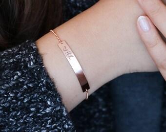 Bar bracelet, sterling silver or gold filled  • BB46x51