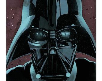 "Star Wars - Darth Vader colour art print 10""x8"""