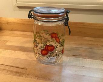 Vintage Retro French 1 Liter Jar, Canning, Vegetable, Kitchen