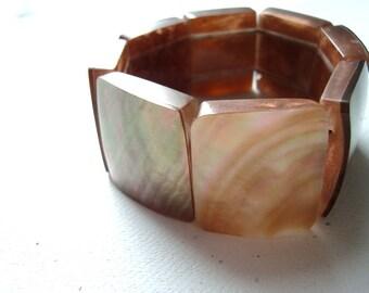 Stretchy Faux Shell Cuff Bracelet Beachy Summer Jewelry Resort Wear Boho Chic Bohemian Gifts Under 20
