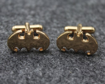 Bat Cuff links, Hero Accessories, Gold Accessories, Novelty Accessories, Gift For Man