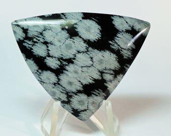 Snowflake Obsidian Free Form Cabochon