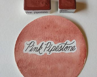 Pink Pipestone Handmade Watercolor