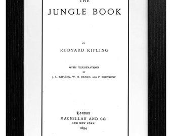 Jungle Book, Rudyard Kipling, A3, First edition, INSTANT DIGITAL DOWNLOAD, Book, Print, Wall art, printable, pdf, Vintage, Oldie, mowgl, kaa