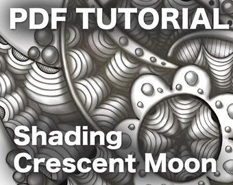 3D Zentangle: Shading Crescent Moon PDF Ebook