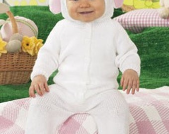 Sirdar Knitting Patterns Snuggly DK Leaflet 1463 Bunny All-in-one / Birth to 2 Years