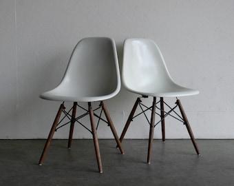RESERVED-Eames for Herman Miller Dowel Base Side Chair-DSW (Set of 8)