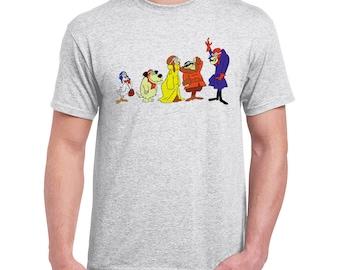 Muttley Dog Wacky Races Mens Light Grey T-Shirt Long Sleeve Hoodie Retro Vintage Cartoon