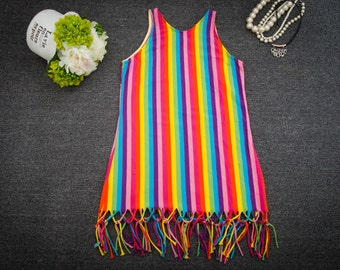 rainbow  dress,beachdress,PDF Sewing Pattern and Photo Tutorial,Instant Download,Women's Easy Singlet Tank Top,Sizes XS,S, Med, Lg, XL