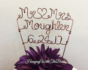 Custom Cake Topper - Wedding Cake Topper, Personalized Cake Topper, Unique Wedding Gift