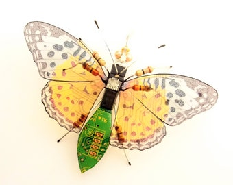 Mini Bug: The Little Skipper Butterfly, Circuit Board Insect by Julie Alice Chappell