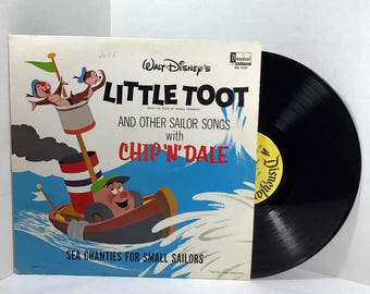 Walt Disney's Little Toot And Other Sailor Songs vinyl record 1962 Disneyland Records, Chip N Dale VG+/EX