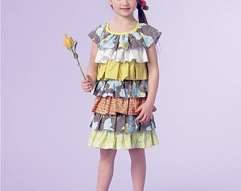 McCall's Sewing Pattern M7179 Children's/Girls' Tiered Ruffle Dresses