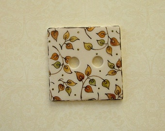 Gold Leaf Square Button