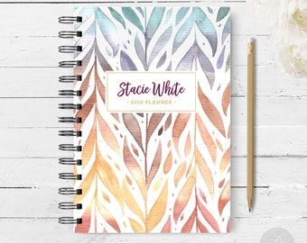 2018 Monthly Planner #16 - Hardcover - Coil Bound - Tabbed - Weekly Planner - Daily Planner