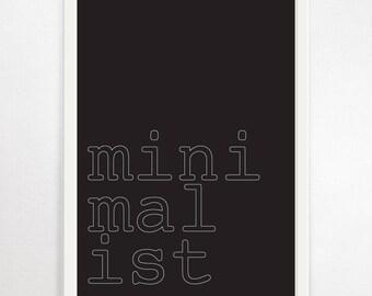 Typography Print, Minimalist Art, Monochrome Minimalist, Minimalist Print, Typography Wall Art, Typography Poster, Monochrome Print, B&W Art