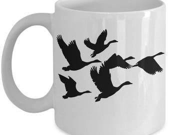 Canada Goose Coffee Mug Geese In Flight Silhouette Mug