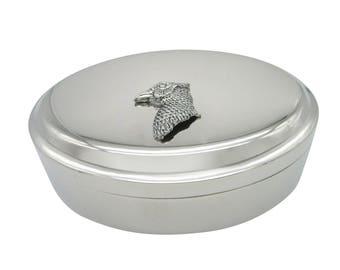 Pheasant Bird Head Pendant Oval Trinket Jewelry Box