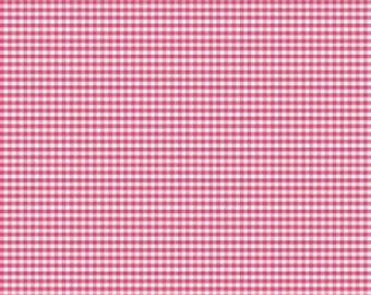 "Hot Pink Gingham Small 1/8"" Riley Blake Designs C440-70, Cotton Quilting Fabric - FWM"