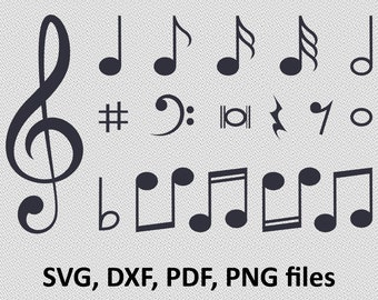 Musical Notes svg, Music svg, Treble Clef svg, Musical staff svg, Music svg files, Music Notes svg, svg files for cricut, svg silhouette