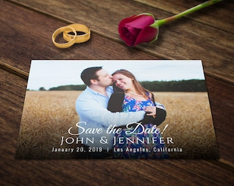 Save the Date Postcard - Save the Date Cards - Save the Date Wedding Invitations Templates - Save the Date Card - Save the Date PSD Postcard