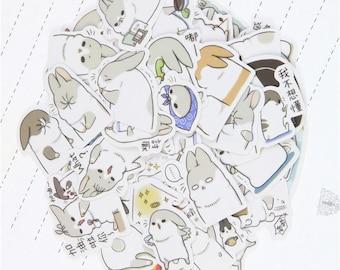 Cute Chubby Bunny Stickers//80pcs