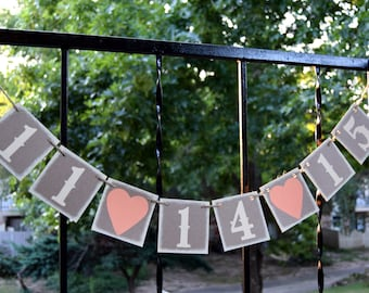 SAVE  the DATE Banner - Wedding Banner - Save the Date Sign-Photo Prop