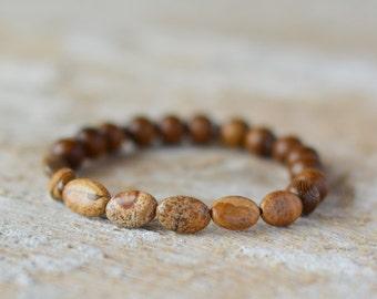 Yoga bracelet beaded bracelet gemstone bracelet jasper bracelet bracelet gemstone jewelry handmade stone bracelet gift for her