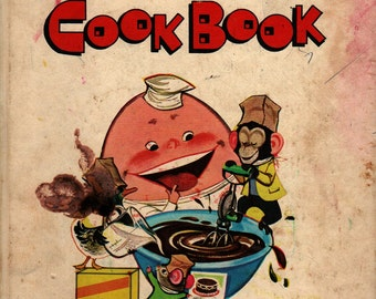 Young Children's Mix and Fix Cook Book + 1975 + Vintage Kids Book