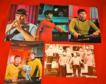Vintage Star Trek TOS Original Series Cast Postcard Set of 5 (ST9)