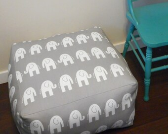 Square Floor Cushion / Elephant Pouf / Square Ottoman / Meditation cushion / Floor Pillow / Box cushion / Pouf