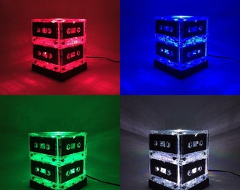 Ready to ship Mixtape Light Color-changing Cassette Tape Lamp Mixtape Light