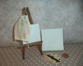 1:12 scale Dollhouse Miniature Artist Lot