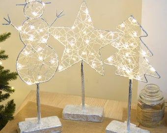 Table Top Christmas LED light  decoration - Christmas Tree - Snowman Star Deer Elk