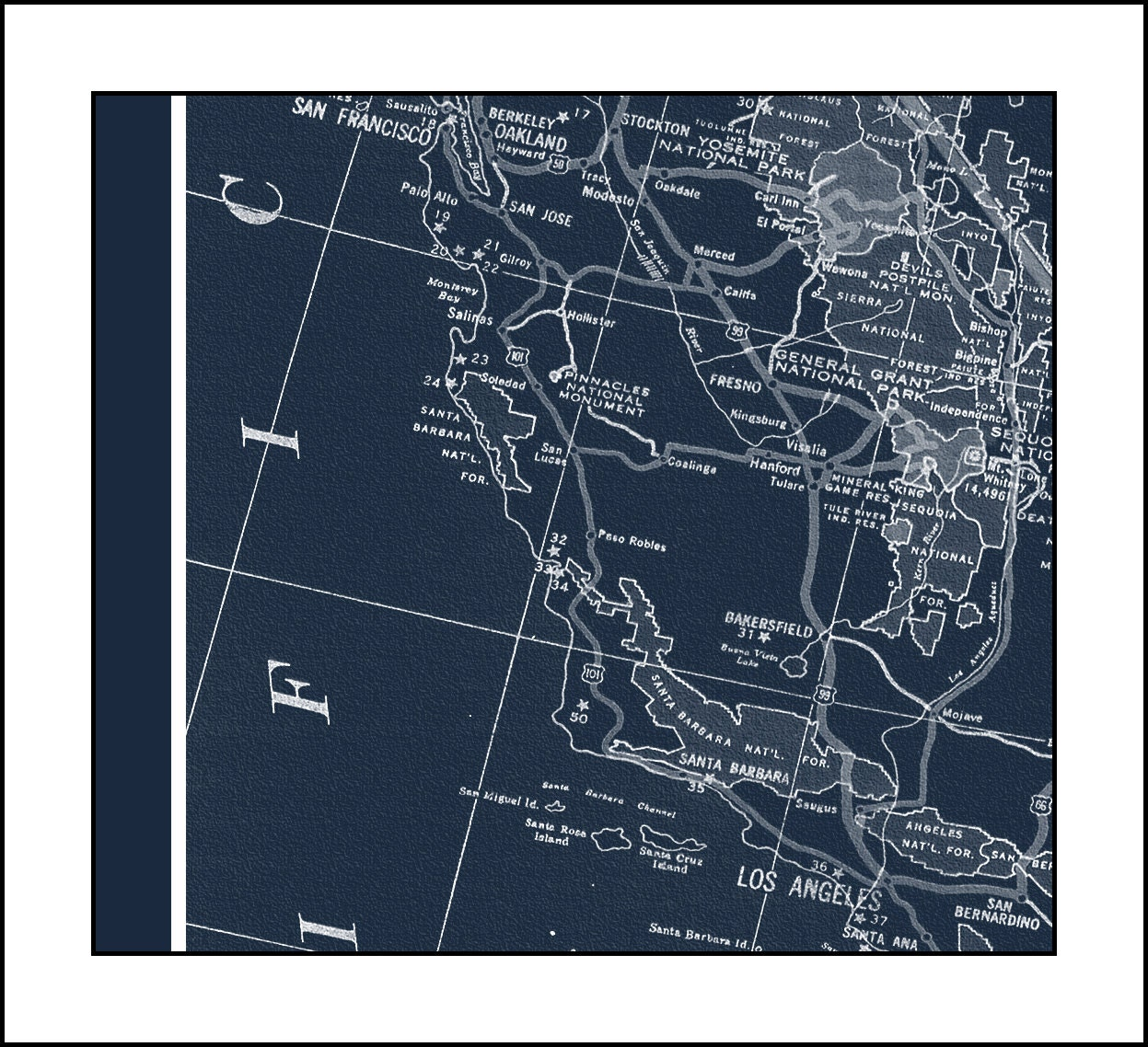 Usa map map of the usa america map vintage map blueprint map usa map map of the usa america map vintage map blueprint map map art blueprint watercolor map map 1936 malvernweather Images