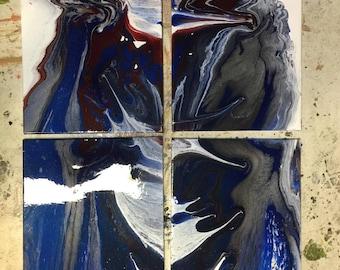 "Brazen original 60"" x 47"" on 4 canvases"