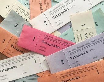 Vintage Tickets - Set of 21 - Vintage Ticket Stubs, Vintage Paper Ephemera, Vintage Tickets, Old Tickets, Junk Journal Ephemera, Collage
